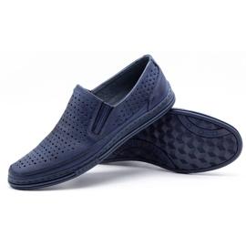 Polbut Men's openwork shoes 2107P navy blue 3
