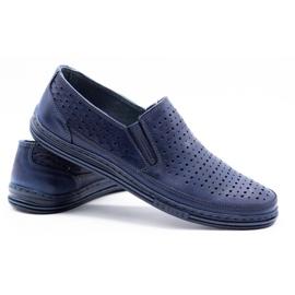 Polbut Men's openwork shoes 2107P navy blue 4