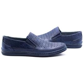 Polbut Men's openwork shoes 2107P navy blue 5