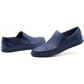 Polbut Men's openwork shoes 2107P navy blue 6