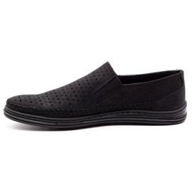Polbut Men's openwork shoes 2107P black 1