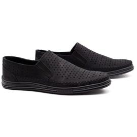 Polbut Men's openwork shoes 2107P black 2