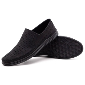 Polbut Men's openwork shoes 2107P black 3