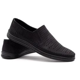 Polbut Men's openwork shoes 2107P black 4