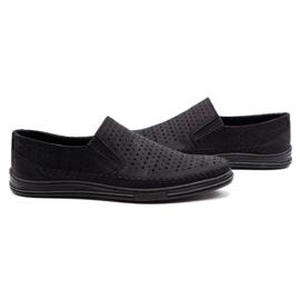 Polbut Men's openwork shoes 2107P black 5