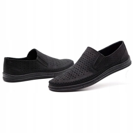 Polbut Men's openwork shoes 2107P black 6