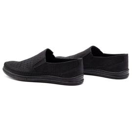 Polbut Men's openwork shoes 2107P black 7