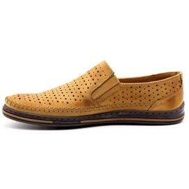 Polbut 2107P red openwork men's shoes orange 1