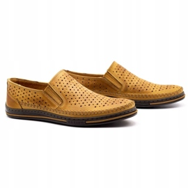Polbut 2107P red openwork men's shoes orange 2