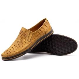 Polbut 2107P red openwork men's shoes orange 3