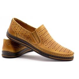 Polbut 2107P red openwork men's shoes orange 4