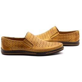 Polbut 2107P red openwork men's shoes orange 5