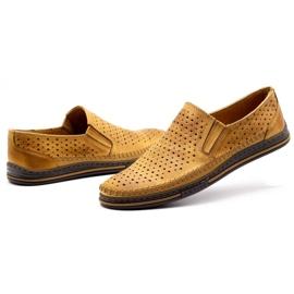 Polbut 2107P red openwork men's shoes orange 6