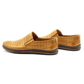 Polbut 2107P red openwork men's shoes orange 7