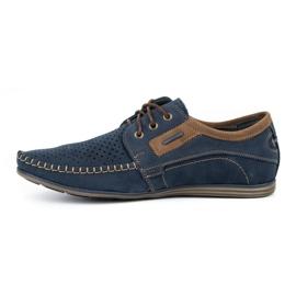 Olivier Men's leather loafers 4228 navy blue 4