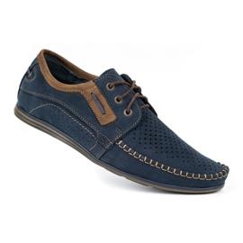 Olivier Men's leather loafers 4228 navy blue 5