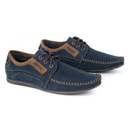 Olivier Men's leather loafers 4228 navy blue 6