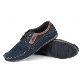 Olivier Men's leather loafers 4228 navy blue 7