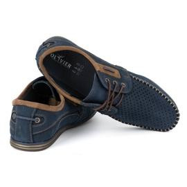 Olivier Men's leather loafers 4228 navy blue 8
