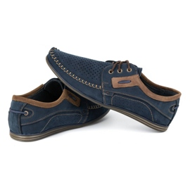 Olivier Men's leather loafers 4228 navy blue 9