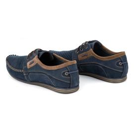 Olivier Men's leather loafers 4228 navy blue 10