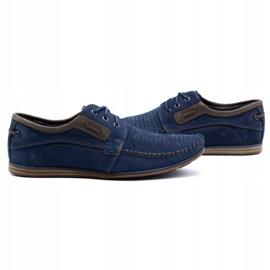 Olivier Men's leather loafers 4228 navy blue 11