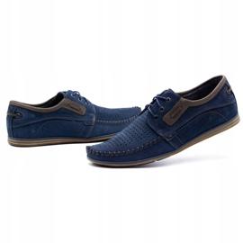 Olivier Men's leather loafers 4228 navy blue 1
