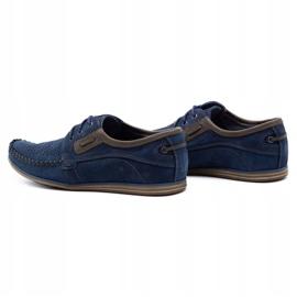 Olivier Men's leather loafers 4228 navy blue 2