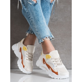 SHELOVET Casual Beige Sneakers multicolored 3
