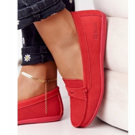 Women's Suede Loafers Big Star HH274668 Coral red 3