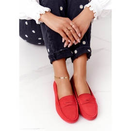 Women's Suede Loafers Big Star HH274668 Coral red 5