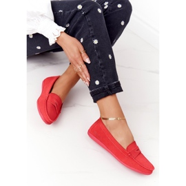 Women's Suede Loafers Big Star HH274668 Coral red 1