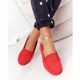 Women's Suede Loafers Big Star HH274668 Coral red 2