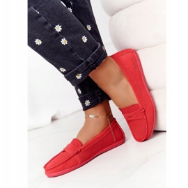Women's Suede Loafers Big Star HH274668 Coral red 4