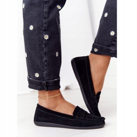 Women's Suede Loafers Big Star HH274662 Black 3