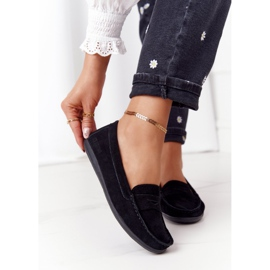 Women's Suede Loafers Big Star HH274662 Black 2
