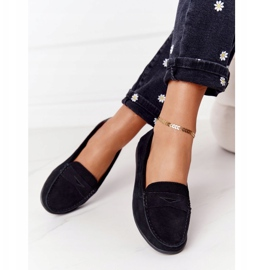Women's Suede Loafers Big Star HH274662 Black 4
