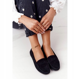 Women's Suede Loafers Big Star HH274662 Black 5