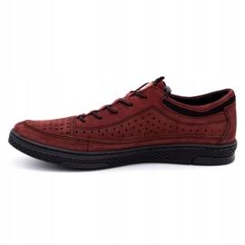 Polbut Men's leather shoes K22P claret red 1