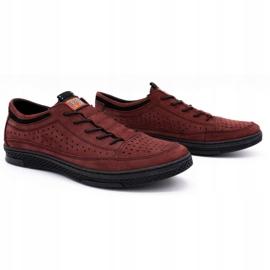 Polbut Men's leather shoes K22P claret red 2