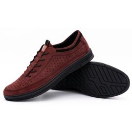 Polbut Men's leather shoes K22P claret red 3