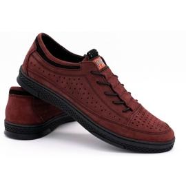 Polbut Men's leather shoes K22P claret red 4