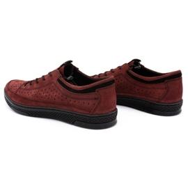 Polbut Men's leather shoes K22P claret red 7