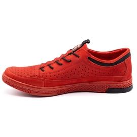 Polbut Men's leather shoes K22P red 1