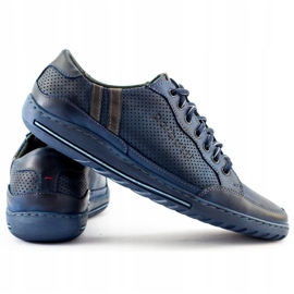Polbut Men's casual shoes JOK31 navy blue 2