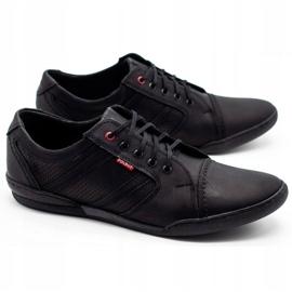 Polbut Men's casual shoes R3 Perforation Black 3