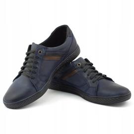 Polbut Men's shoes J47 navy blue 1