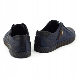 Polbut Men's shoes J47 navy blue 2