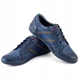 Polbut Men's casual shoes R3 Perforation Navy Blue 3