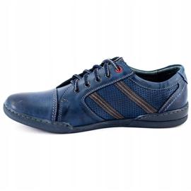 Polbut Men's casual shoes R3 Perforation Navy Blue 2